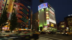 Chuodori Street in Akihabara Electric Town Stock Footage