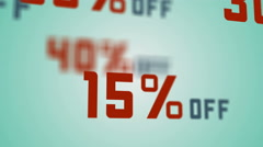 Special offer, sale, big discounts percent. - stock footage
