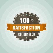 100 percent satisfaction vector vintage label - stock illustration