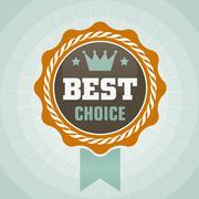 Vintage best choice vector label Stock Illustration