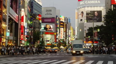 Shinjuku East Gate Street Scene in Time Lapse Stock Footage