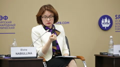 Governor of the Bank of Russia Elvira Nabiullina Stock Footage