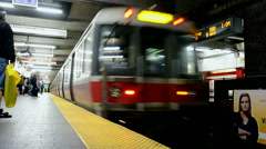 Boston, USA, Massachusetts Bay Transportation Authority (aka MBTA). Stock Footage