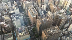 City aerial skyline at dusk. Tokyo attracts 5 million foreign - stock footage
