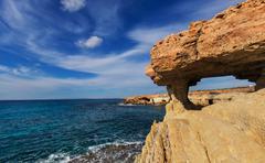 Cyprus coast - stock photo