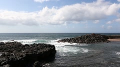 Waves And Rocks (Tenerife Canary Islands) Stock Footage