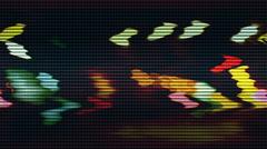 Bokeh lights loop signal  - stock footage