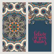 Positive quote believe in your dreams inscription lettering on f Stock Illustration