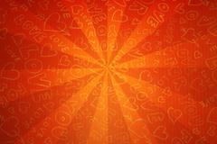 Red funky love background. Great for Valentines. - stock photo
