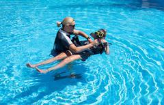 Relaxing Scuba Diver Stock Photos