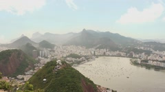 Rio de Janeiro view from Sugar Loaf with cable car - 1080p Stock Footage