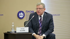 Alexei Kudrin - Russian statesman, former Minister Finance of the Russia Stock Footage