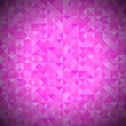Pink Background with Geometric Triangles. - stock illustration