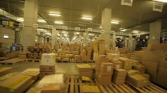 Warehouse with a variety of goods Stock Footage