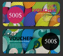 Gift Voucher Template For Your Business. Vector Illustration Stock Illustration
