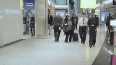 Time lapse crowd airport Duty Free - Full HD - stock footage