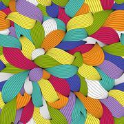 Abstract Wave Seamless Pattern Background. Vector Illustration - stock illustration
