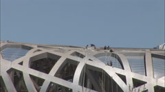 Birds Nest Stadium construction, Beijing Stock Footage