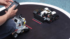 BestRoboFest Battle competition machines from Lego Stock Footage