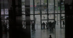 People are in and out Centre Pompidou Stock Footage