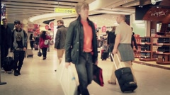Duty Free time lapse crowd of people - Full HD - stock footage