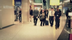 Time lapse World Duty Free crowd of people - 1080p - stock footage