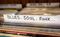 Blues, Soul, Funk Records - stock photo