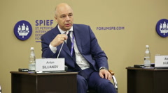 Anton Siluanov - Russian economist, Minister of Finance of the Russia - stock footage