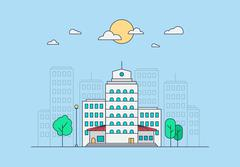 City Life Concept - stock illustration