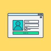 form of login to account - stock illustration