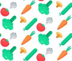 Fresh Vegetable Salad - stock illustration