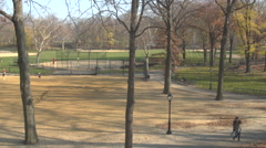 Central Park Softball Court, New York Stock Footage