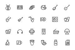 Music Vector Line Icons Collection Piirros