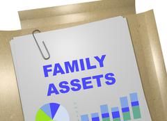Family Assets business concept Stock Illustration