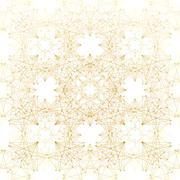 Geometric abstract background. Connected line and dots. Linear golden grid with Stock Illustration