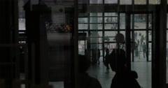 Indoor view of Centre Pompidou in Paris Stock Footage