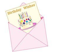 birthday wishes - stock illustration