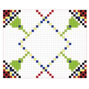Authentic pattern square Stock Illustration