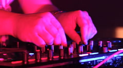 Sound mixer in club Stock Footage