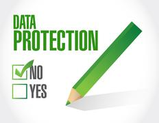 No Data Protection approval sign illustration Stock Illustration