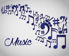 Music art  graphic design Stock Illustration