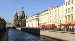 Church of the Savior on the Spilled Blood in St. Petersburg, Russia. Stock Footage