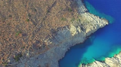 Beautiful landscape with secluded beach (aerial view) Stock Footage