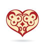 Decorative heart ornament vector Stock Illustration