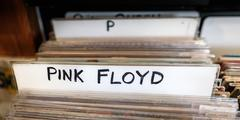 Pink Floyd Records - stock photo