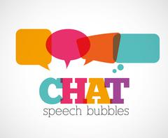 Chat speech bubbles - stock illustration