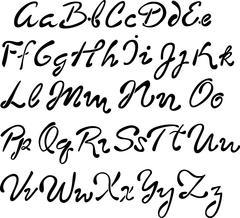 Vector handwritten brush script. - stock illustration