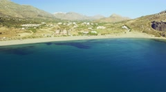 Aerial of mediterranean beach Stock Footage