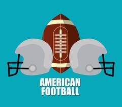 American Football sport design - stock illustration