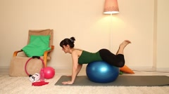 Teacher and pilates lesson Stock Footage
